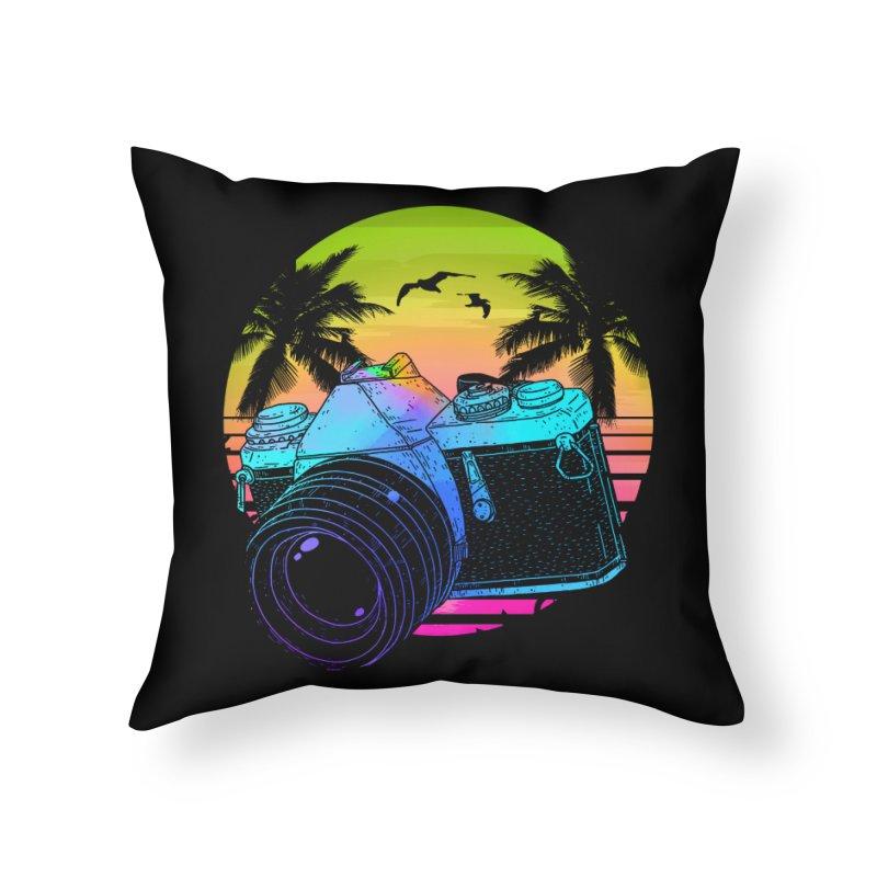 Retro Camera Home Throw Pillow by clingcling's Artist Shop