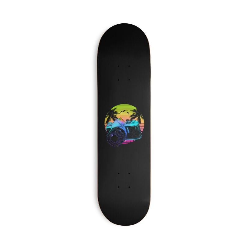 Retro Camera Accessories Skateboard by clingcling's artist shop