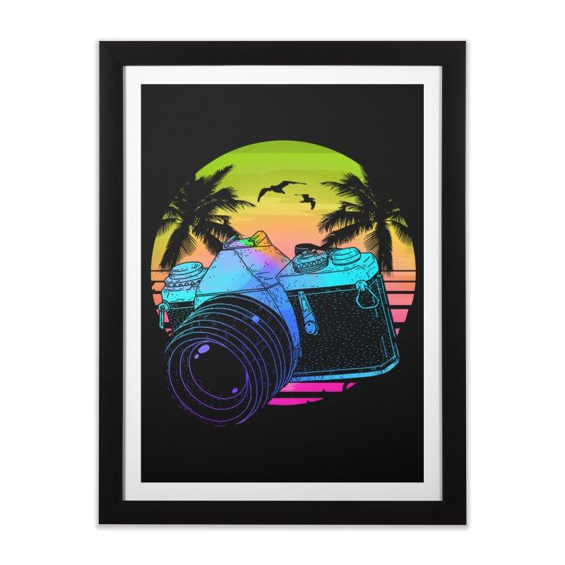 Retro Camera Home Framed Fine Art Print by clingcling's Artist Shop