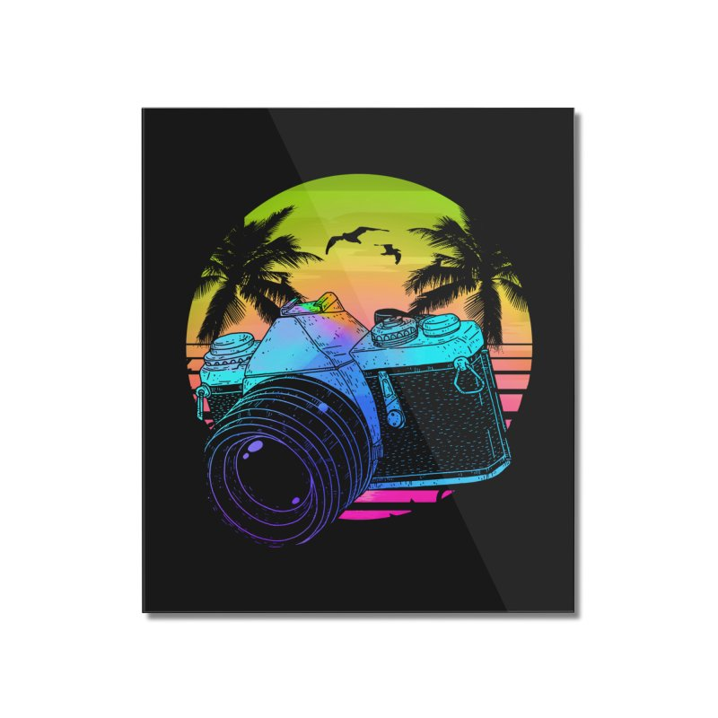 Retro Camera Home Mounted Acrylic Print by clingcling's Artist Shop