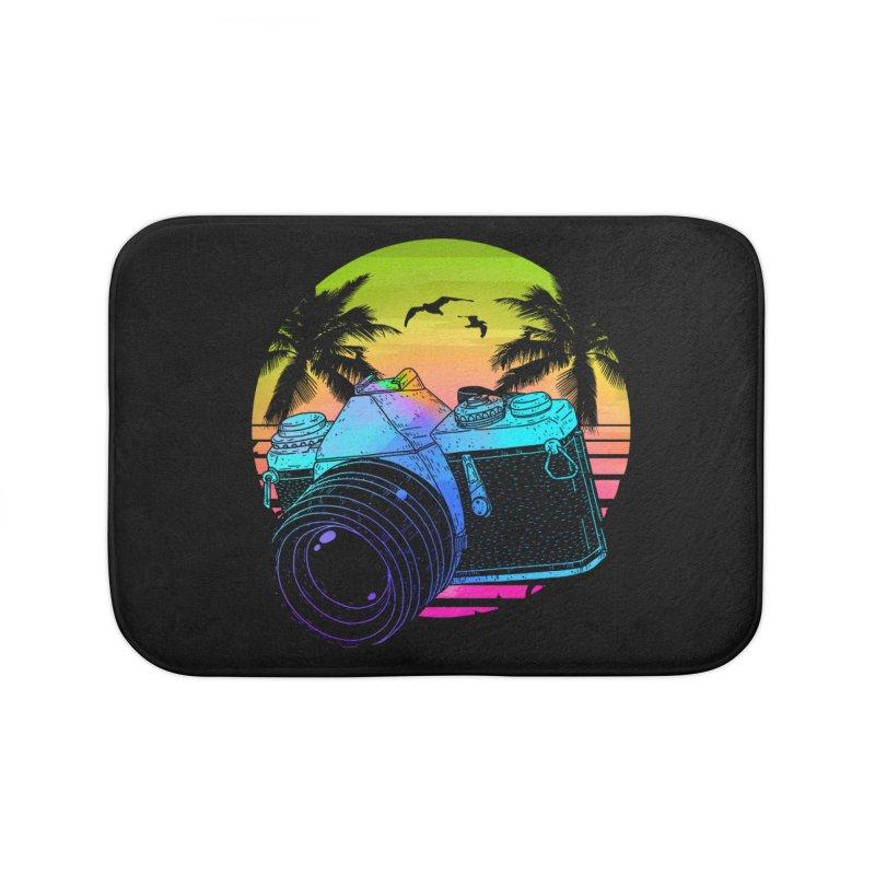 Retro Camera Home Bath Mat by clingcling's Artist Shop