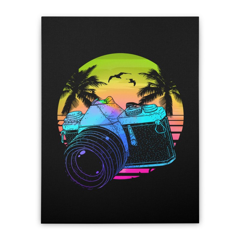 Retro Camera Home Stretched Canvas by clingcling's Artist Shop