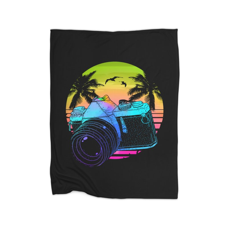 Retro Camera Home Fleece Blanket Blanket by clingcling's Artist Shop