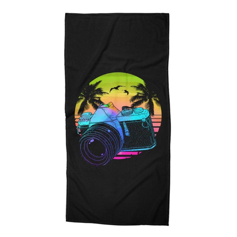 Retro Camera Accessories Beach Towel by clingcling's Artist Shop