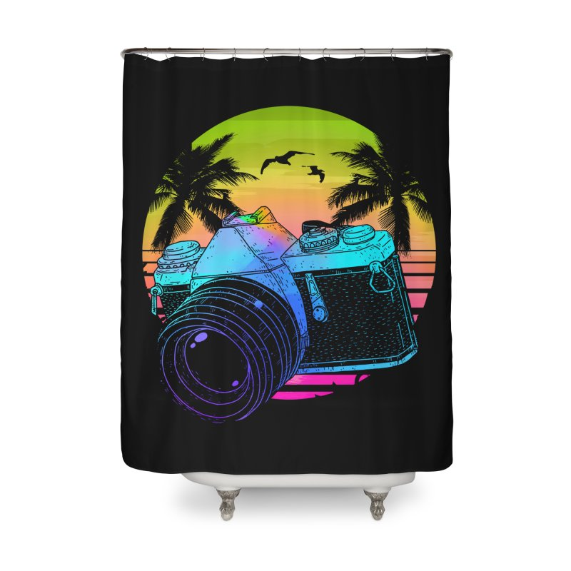 Retro Camera Home Shower Curtain by clingcling's Artist Shop