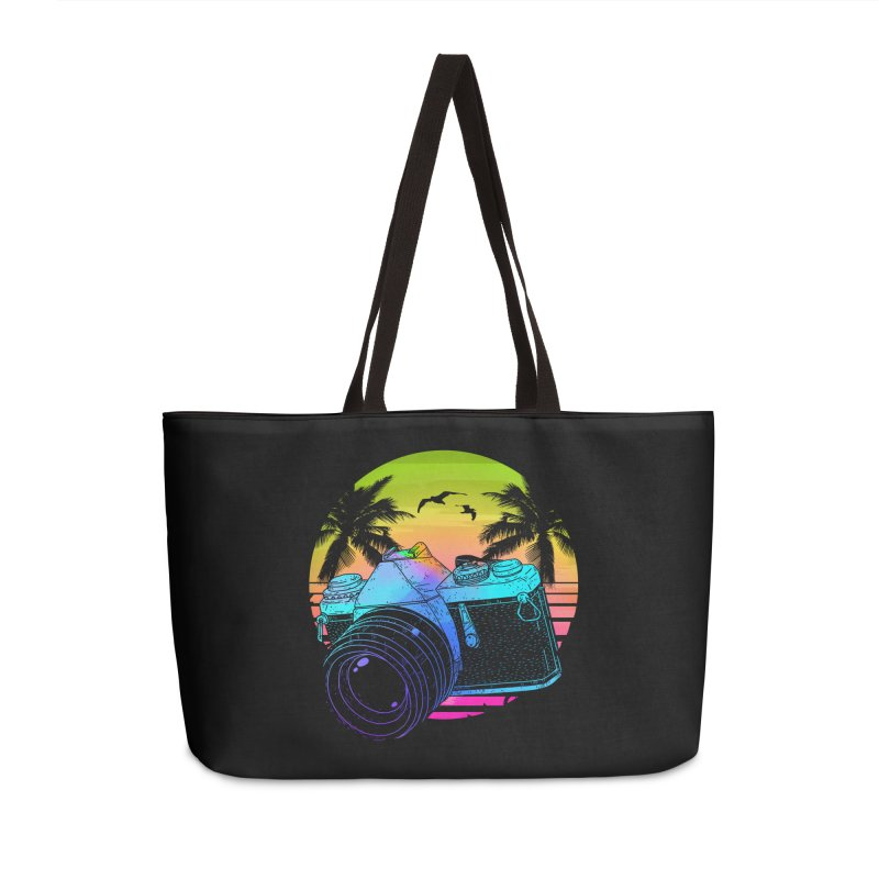 Retro Camera Accessories Weekender Bag Bag by clingcling's Artist Shop