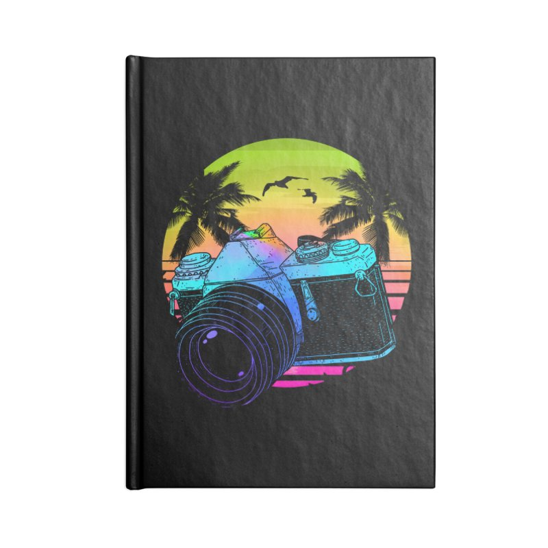 Retro Camera Accessories Lined Journal Notebook by clingcling's Artist Shop