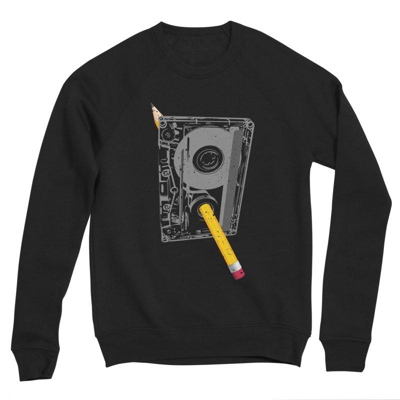 Rewind Men's Sponge Fleece Sweatshirt by clingcling's Artist Shop