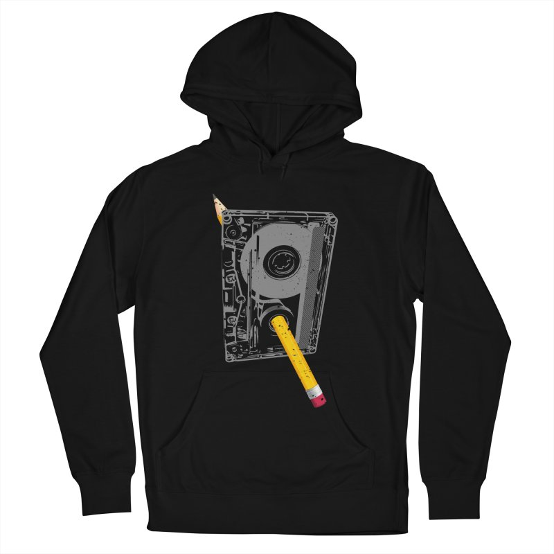 Rewind Men's French Terry Pullover Hoody by clingcling's Artist Shop