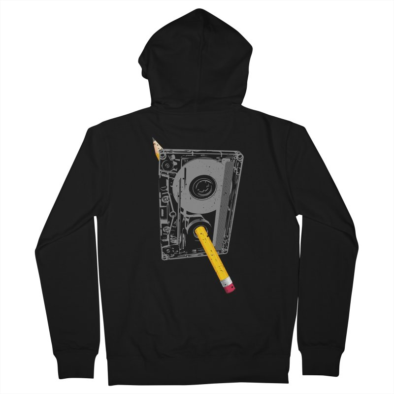 Rewind Men's French Terry Zip-Up Hoody by clingcling's Artist Shop