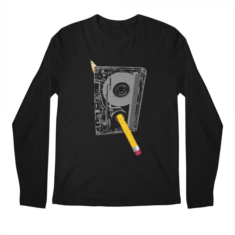 Rewind Men's Regular Longsleeve T-Shirt by clingcling's Artist Shop