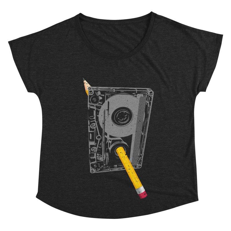 Rewind Women's Dolman Scoop Neck by clingcling's artist shop