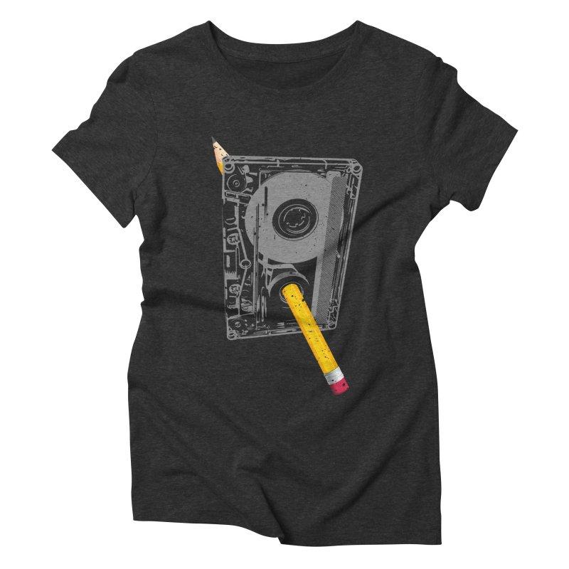 Rewind Women's Triblend T-Shirt by clingcling's Artist Shop