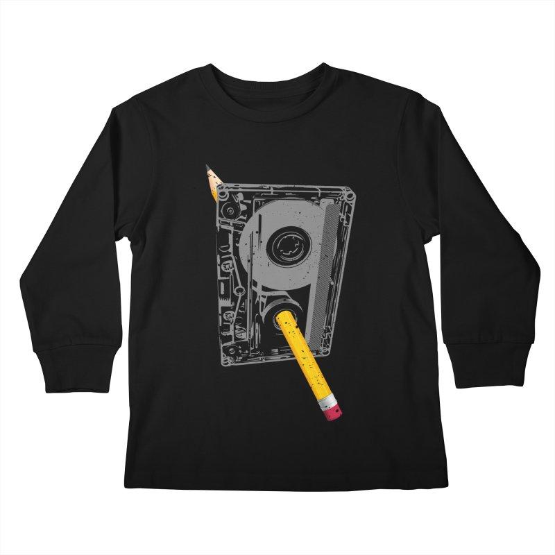 Rewind Kids Longsleeve T-Shirt by clingcling's Artist Shop