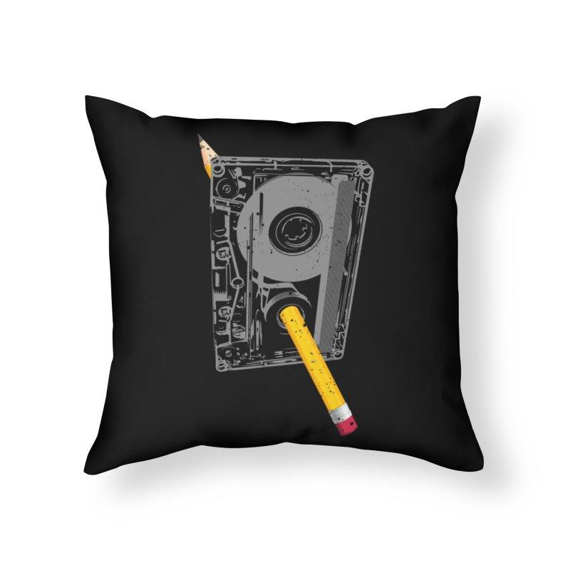 Rewind Home Throw Pillow by clingcling's Artist Shop