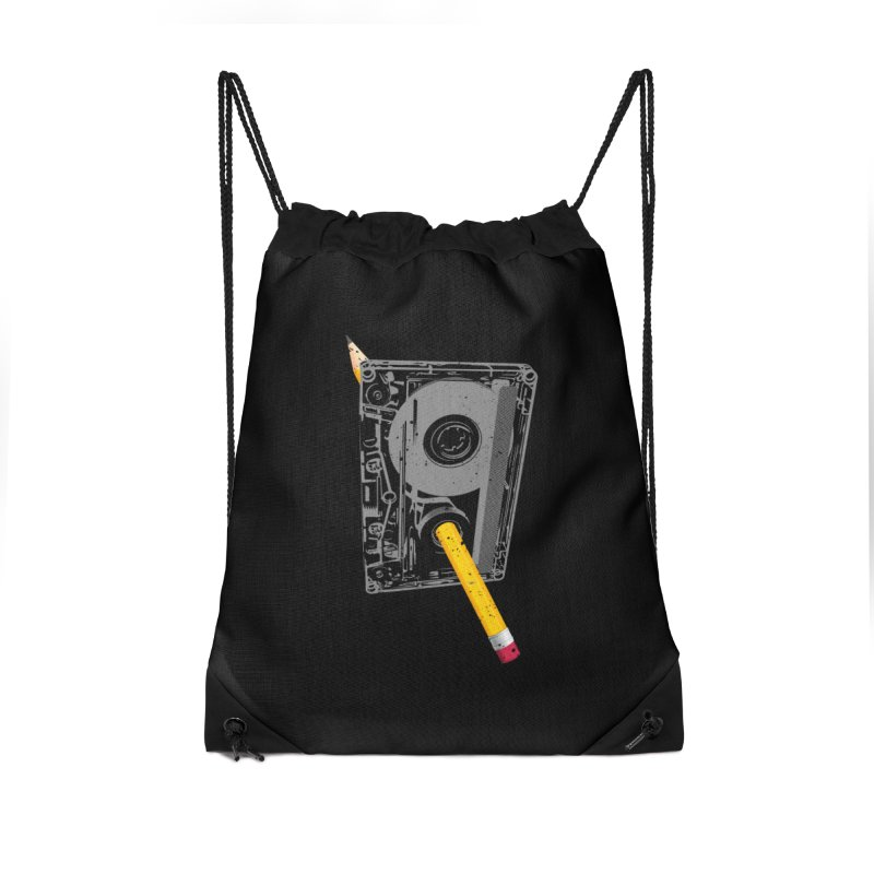 Rewind Accessories Drawstring Bag Bag by clingcling's Artist Shop