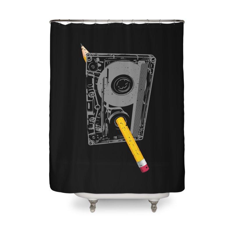 Rewind Home Shower Curtain by clingcling's Artist Shop