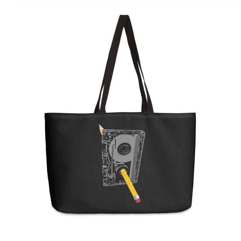 Rewind Accessories Weekender Bag Bag by clingcling's Artist Shop