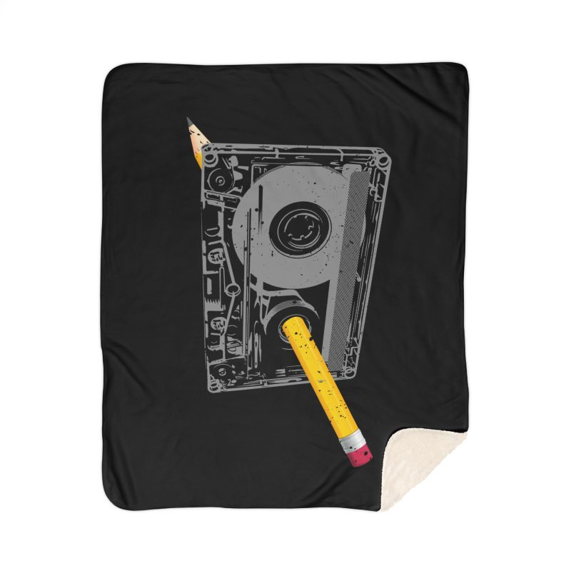Rewind Home Sherpa Blanket Blanket by clingcling's Artist Shop