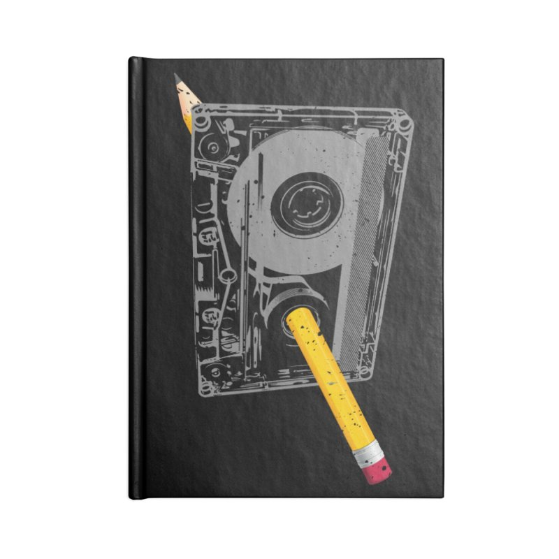 Rewind Accessories Lined Journal Notebook by clingcling's Artist Shop