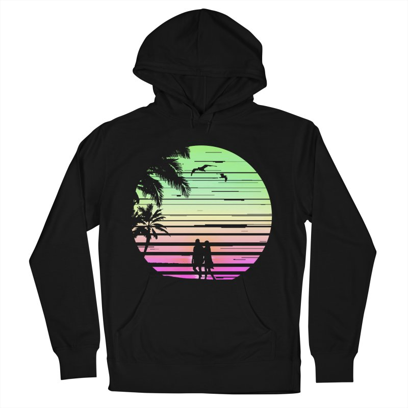 Summer with love Women's French Terry Pullover Hoody by clingcling's Artist Shop