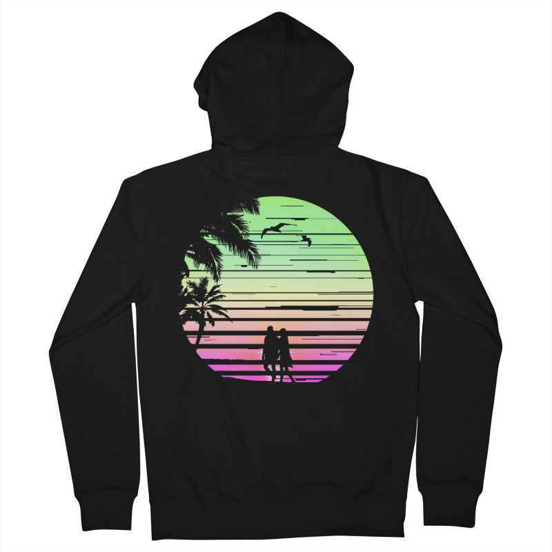 Summer with love Men's French Terry Zip-Up Hoody by clingcling's Artist Shop
