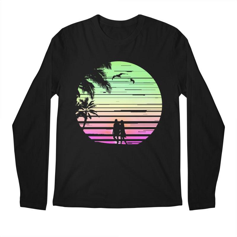 Summer with love Men's Regular Longsleeve T-Shirt by clingcling's Artist Shop