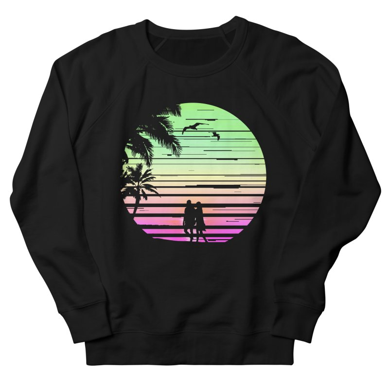 Summer with love Women's French Terry Sweatshirt by clingcling's Artist Shop