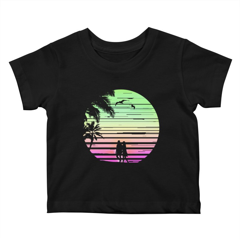 Summer with love Kids Baby T-Shirt by clingcling's Artist Shop