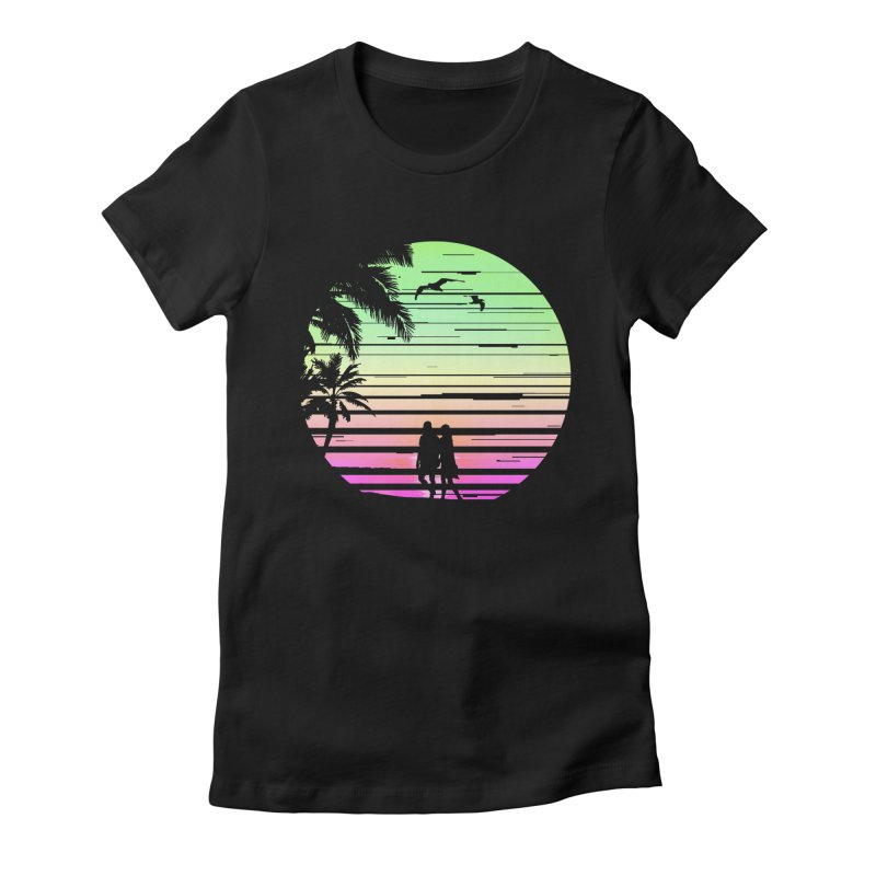 Summer with love Women's Fitted T-Shirt by clingcling's Artist Shop