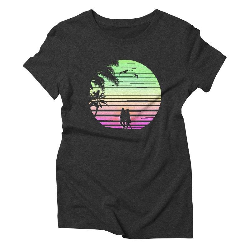 Summer with love Women's Triblend T-Shirt by clingcling's Artist Shop