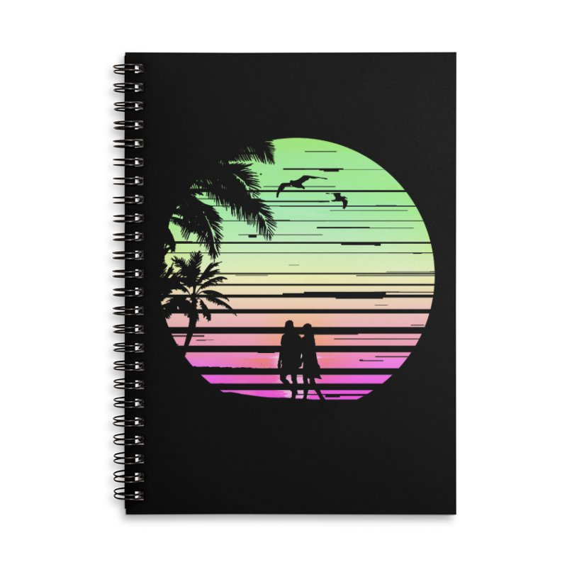 Summer with love Accessories Lined Spiral Notebook by clingcling's Artist Shop