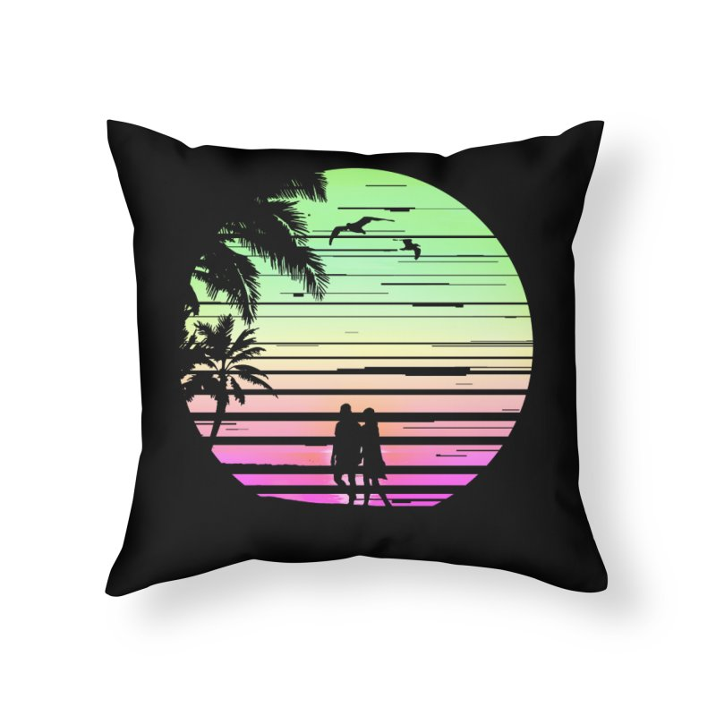 Summer with love Home Throw Pillow by clingcling's Artist Shop