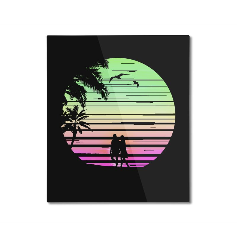 Summer with love Home Mounted Aluminum Print by clingcling's Artist Shop