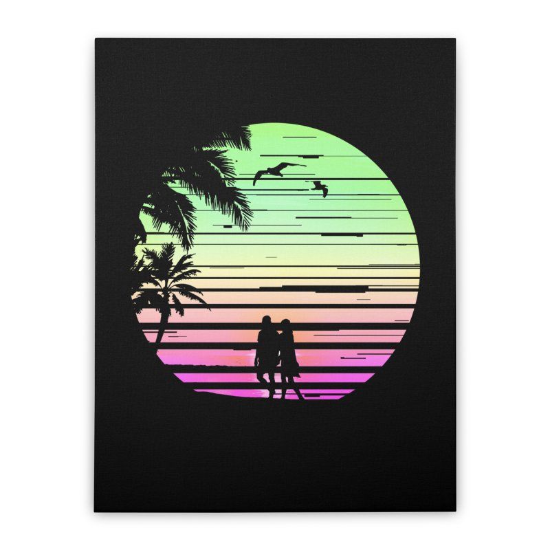 Summer with love Home Stretched Canvas by clingcling's Artist Shop