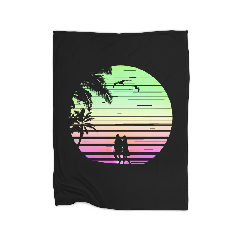 Summer with love Home Fleece Blanket Blanket by clingcling's Artist Shop