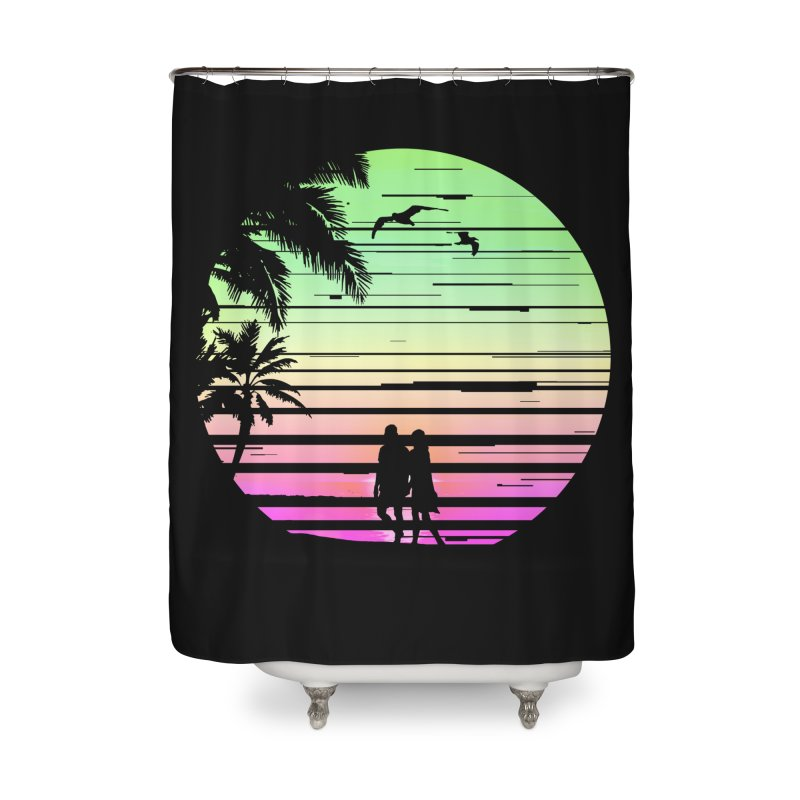 Summer with love Home Shower Curtain by clingcling's Artist Shop