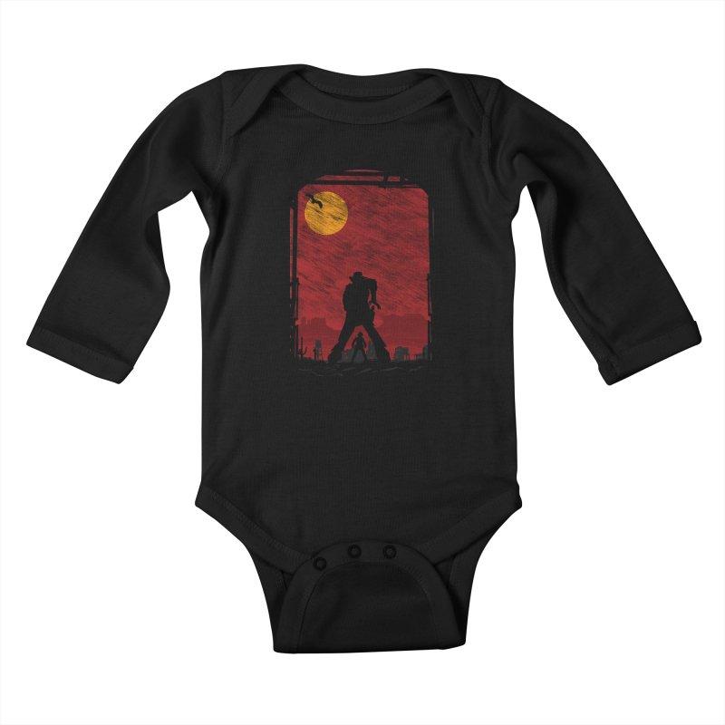 The Duel Kids Baby Longsleeve Bodysuit by clingcling's Artist Shop