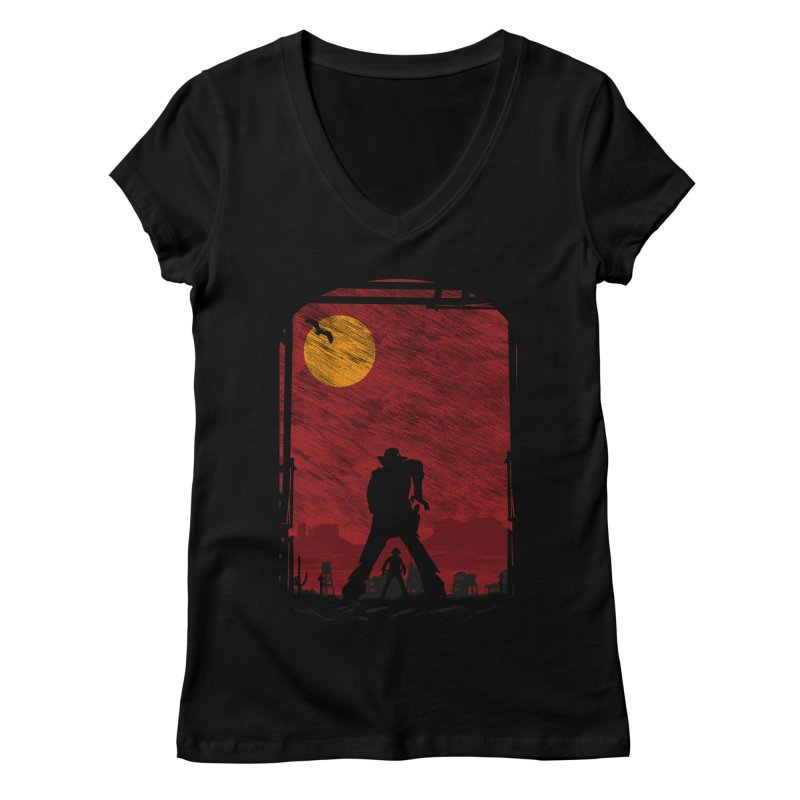 The Duel Women's Regular V-Neck by clingcling's Artist Shop