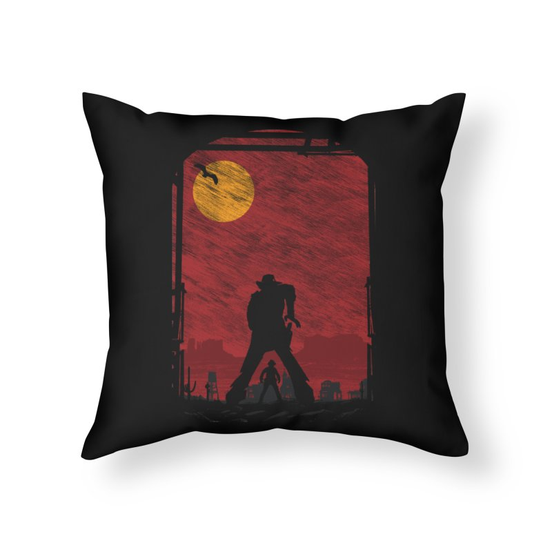 The Duel Home Throw Pillow by clingcling's Artist Shop