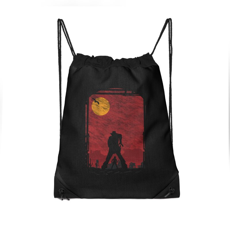 The Duel Accessories Drawstring Bag Bag by clingcling's Artist Shop