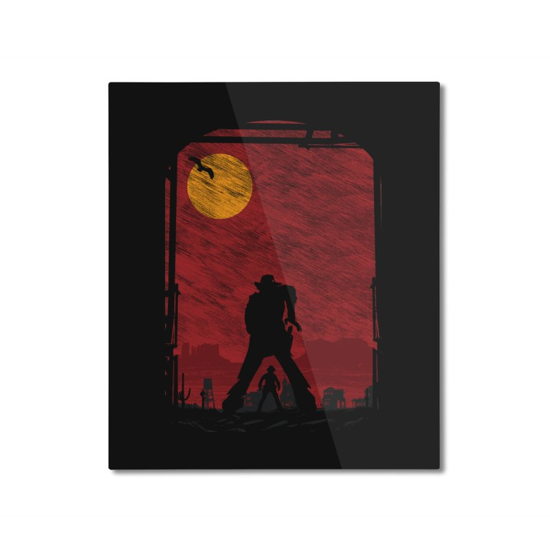 The Duel Home Mounted Aluminum Print by clingcling's Artist Shop