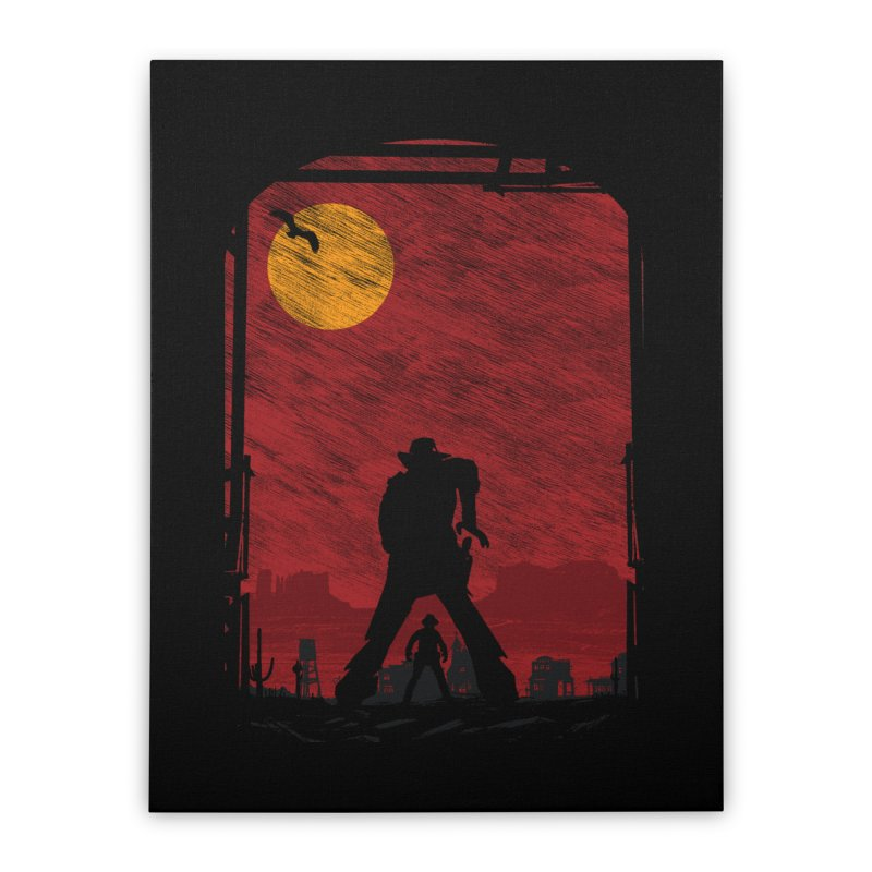 The Duel Home Stretched Canvas by clingcling's Artist Shop