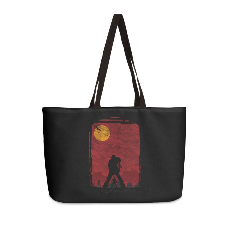 The Duel Accessories Weekender Bag Bag by clingcling's Artist Shop