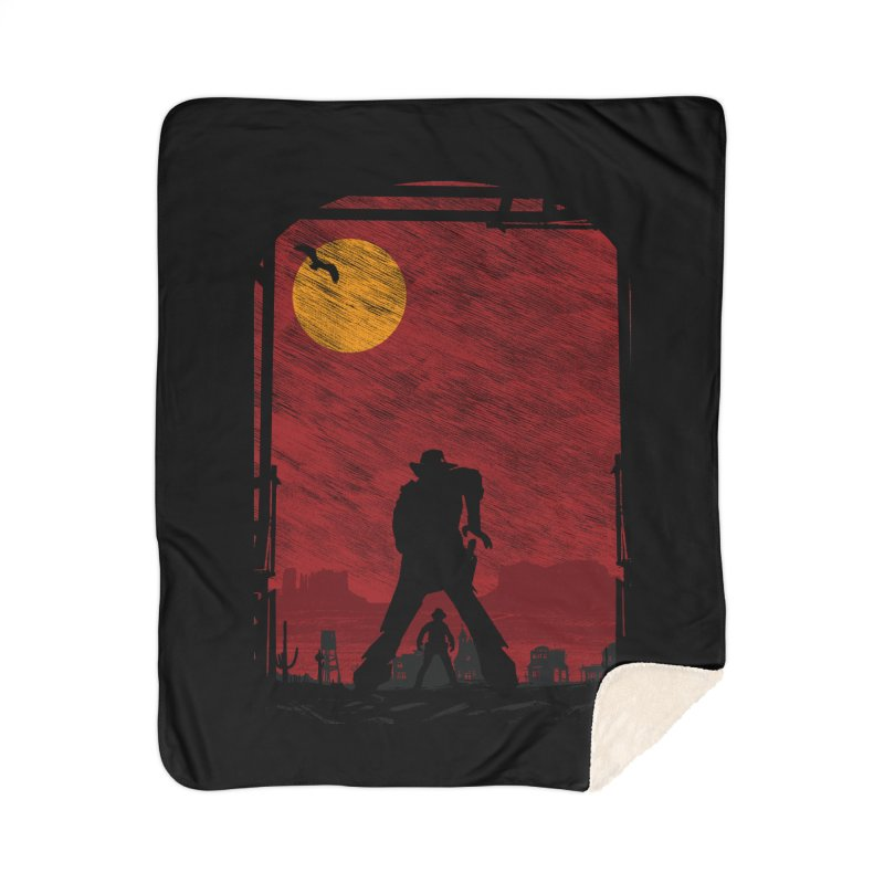 The Duel Home Sherpa Blanket Blanket by clingcling's Artist Shop
