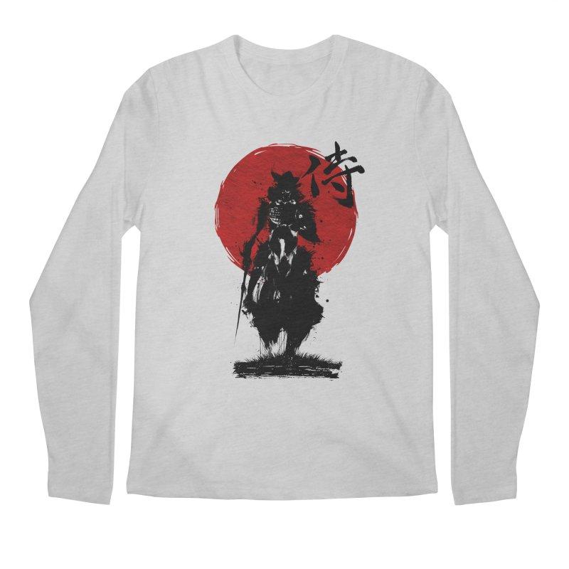 The Samurai Men's Regular Longsleeve T-Shirt by clingcling's Artist Shop