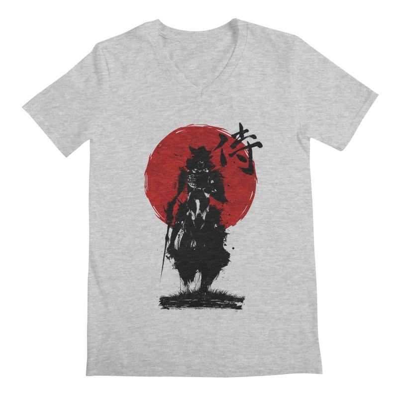 The Samurai Men's Regular V-Neck by clingcling's Artist Shop