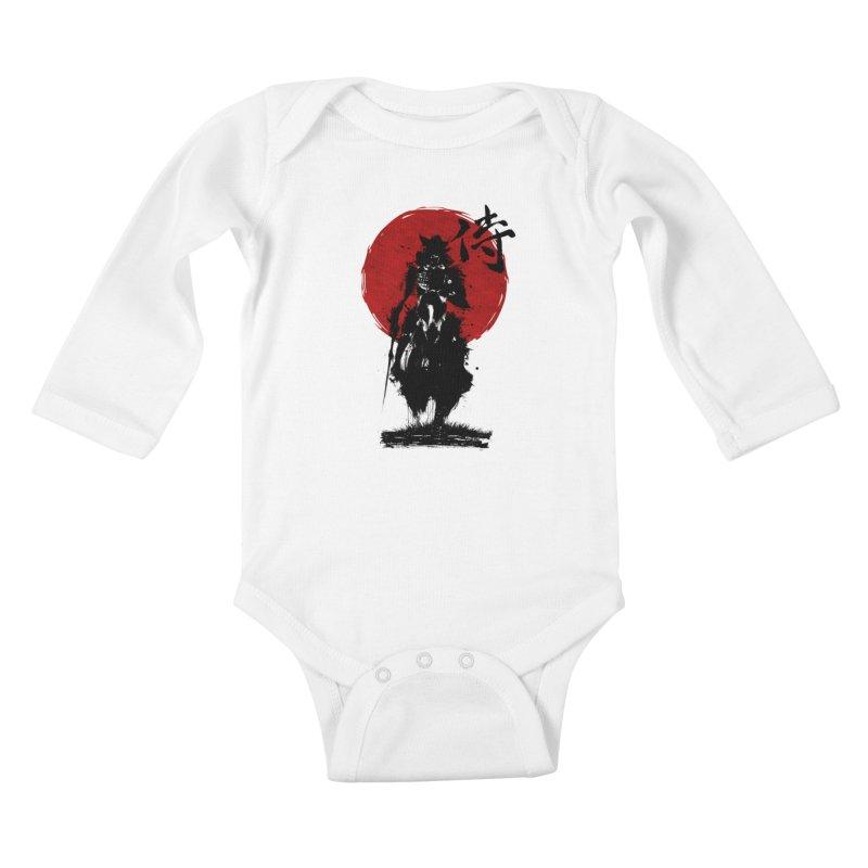 The Samurai Kids Baby Longsleeve Bodysuit by clingcling's Artist Shop