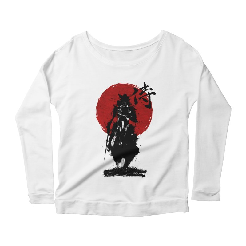 The Samurai Women's Scoop Neck Longsleeve T-Shirt by clingcling's Artist Shop