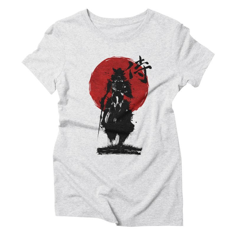 The Samurai Women's Triblend T-Shirt by clingcling's Artist Shop